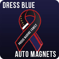 Dress Blue Auto Magnets usmc