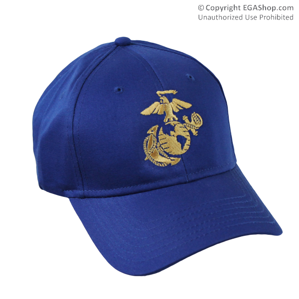 Cap, Embroidered EGA on Royal Blue