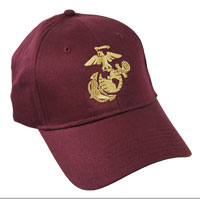 Cap, Embroidered EGA on Maroon