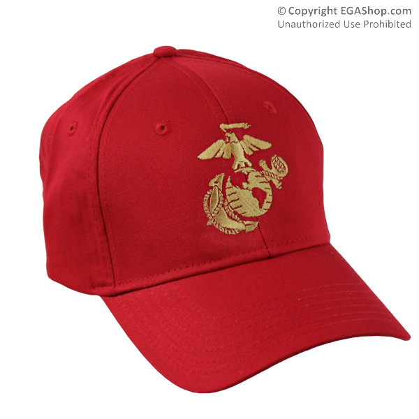 Cap, Embroidered EGA on Red