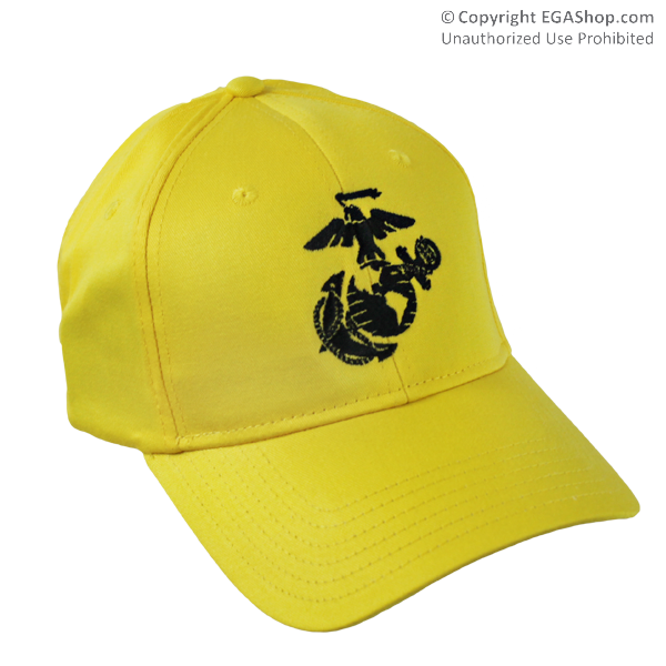 Cap, Embroidered EGA on Yellow