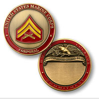 Custom Engraved Rank Coin, E-4 (Corporal)