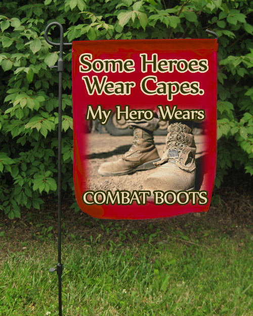 Garden Flag: My Hero Wears Combat Boots