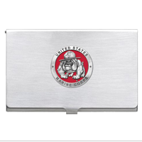 Business Card Case: Bulldog, Enamel Red