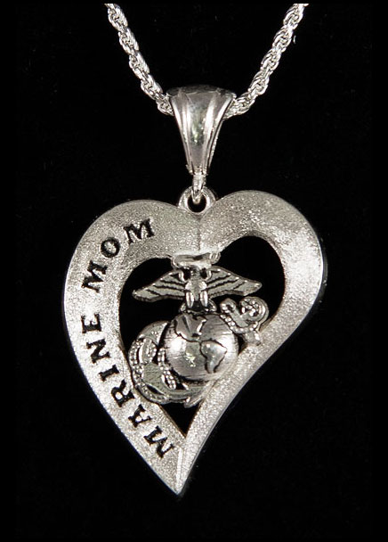 Necklace, Marine MOM Heart Design