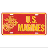 License Plate: EGA - US Marines