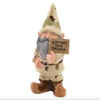 Garden Gnome: Support Our Troops