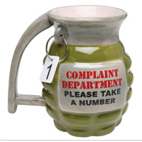 Coffee Mug, Grenade Complaint Department