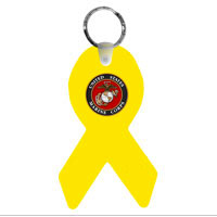 Key Chain: Yellow Ribbon & Marine Corps Seal