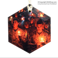 Ornament: Marines Singing Silent Night (Glass)