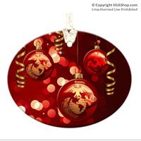 Ornament: Ribbons & Globes with EGA (Glass)