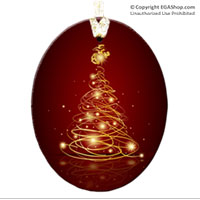Ornament: Christmas Tree with EGA Topper (Glass)