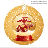 Ornament: EGA in a Snow Globe (Glass)