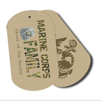 Dog Tag Set: Camo Family, Proud of Our Marine