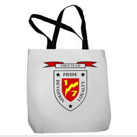 Tote Bag: 1/7 Marines (16x16)