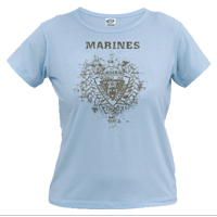 __Vintage T-Shirt (Ladies): 3/4 Marines