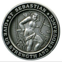Medallion: St Sebastion (Silver Finish)