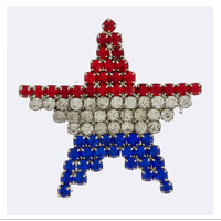 Z Brooch: Patriotic Star (Bling)