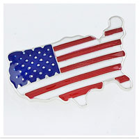 Z Brooch: USA Stars and Stripes