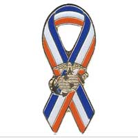 Lapel Pin, Ribbon with EGA
