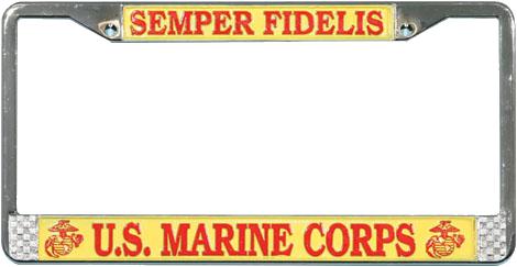 License Plate Frame Semper Fidelis