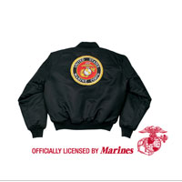 Jacket: (Nylon Flight Jacket) Black with Seal on Reverse