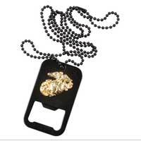 Bottle Opener: EGA Dog Tag w/ chain (Black)