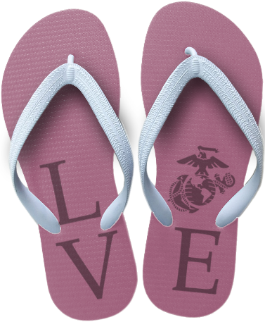 Flip Flops: (adult or youth sizes) Love w/ EGA