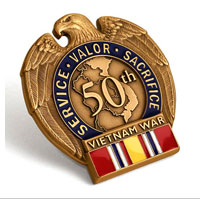 Lapel Pin, Vietnam War Vietnam-Era Veteran Commemorative Insignia