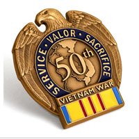Lapel Pin, Vietnam War Merchant Marine Service Commemorative Insignia