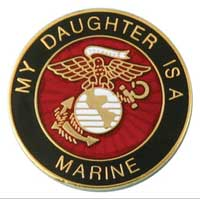 Lapel Pin, My Daughter is a Marine