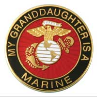 Z Lapel Pin, My Granddaughter is a Marine