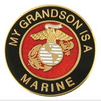 Lapel Pin, My Grandson is a Marine