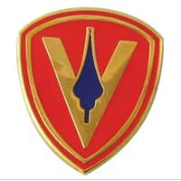 Lapel Pin, 5th Marine Division