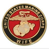 Lapel Pin, USMC Wife