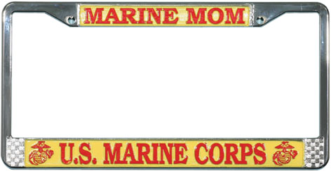 License Plate Frame: Marine Mom