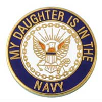 Lapel Pin, US Navy Daughter