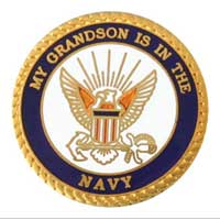 Lapel Pin, US Navy Grandson