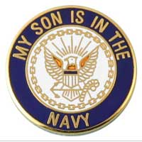 Lapel Pin, US Navy Son