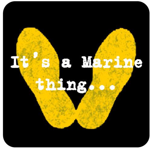 Yellow Footprints Marine Corp Clipart