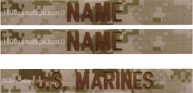 Name Tape Set (Desert or Woodland Camo)