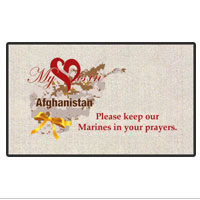 Doormat: My Heart is in Afghanistan (18x24)