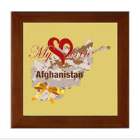 Keepsake Box: My Heart is in Afghanistan (4x4)