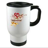 Mugs & Steins: My Heart is in Afghanistan (customizable)
