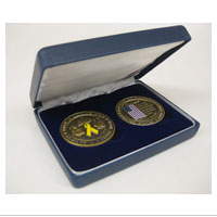 Coin Gift Case: Marine Mother and Father Set