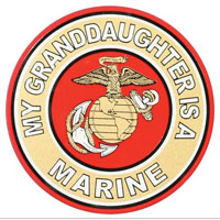 Decal, EGA My Granddaughter Is A Marine