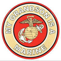 Decal, EGA My Grandson Is A Marine