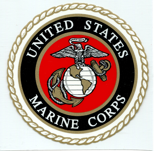 Decal: USMC Seal/Transparent Background