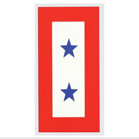 Decal, Service Flag, 2 Blue Stars