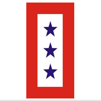 Decal, Service Flag, 3 Blue Stars